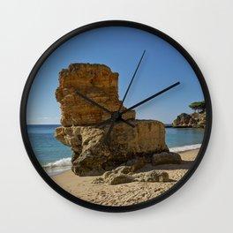 Olhos d'Agua rock. the Algarve Wall Clock