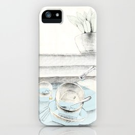 when sunshine gently touches my laziness... iPhone Case