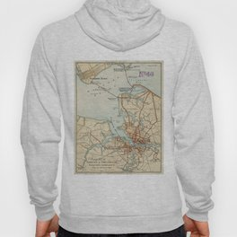 Vintage Map of Norfolk and Portsmouth VA (1919) Hoody