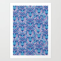 Psychedelic Camouflage Art Print