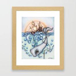 """""""Moby"""" Framed Art Print"""