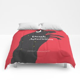 Ernest Hemingway book cover & Poster, Death in the Afternoon, bullfighting stories Comforters