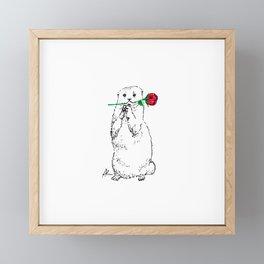 Otterly Romantic Framed Mini Art Print
