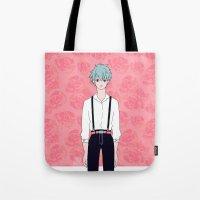 kuroko Tote Bags featuring Kuroko by Liyu