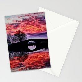 Canal du Midi, France Sunset Landscape Stationery Cards