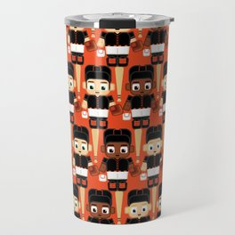 Baseball Black and Orange - Super cute sports stars Travel Mug