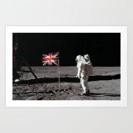 British Flag on the Moon Art Print