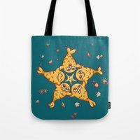 starfish Tote Bags featuring StarFish by Lili Batista