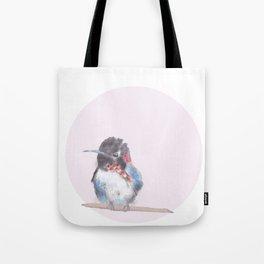 Hummingbird on pink background Tote Bag