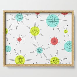 Atomic Age Colorful Planets Serving Tray