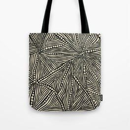 Black and Ivory Triangles Tote Bag