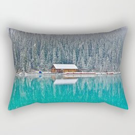 idyllic winter scene #society6 #decor #buyart Rectangular Pillow