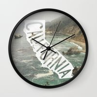 california Wall Clocks featuring California by cabin supply co