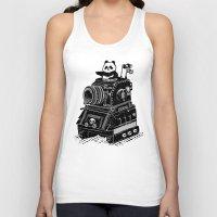 panda Tank Tops featuring Panda by Ronan Lynam