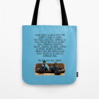rap Tote Bags featuring 101 Rap by Marianna