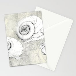 Moon Snail Stationery Cards