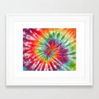 tye dye Framed Art Prints featuring Tye Dye My Heart by AmorFati