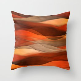 """Sea of sand and caramel waves"" Throw Pillow"