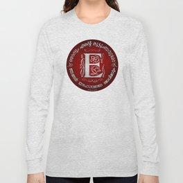 Joshua 24:15 - (Silver on Red) Monogram E Long Sleeve T-shirt