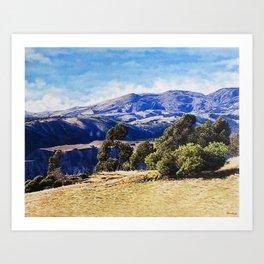 Paisaje en Chugchilan Art Print