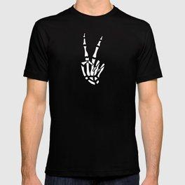 Peace skeleton hand T-shirt