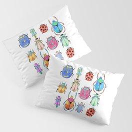 White insect pattern | Entomology shirt Pillow Sham