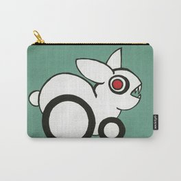 Red-Eye White Rabbit with Pointy Teeth Carry-All Pouch