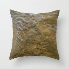 sand and bubbles Throw Pillow