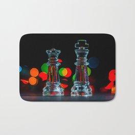 Bokeh Glass Chess Pieces Bath Mat