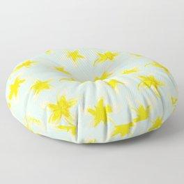 Yellow Plumeria Floor Pillow