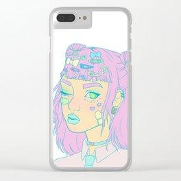 Decora Pastel Goth Girl Clear iPhone Case