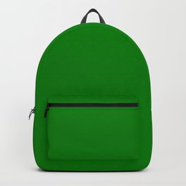 Green - solid color Backpack