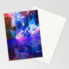 NEBULA COSMIC HORIZON OCEAN BLUE Stationery Cards