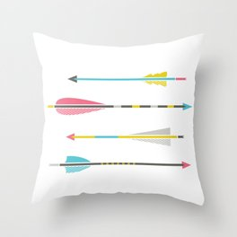 Native Arrows Throw Pillow