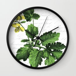 Botanical Flower No3 Wall Clock