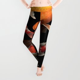 Seamless pattern koi carp Leggings