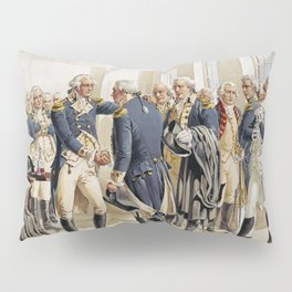 Washington's Farewell to Officers by H.A. Ogden (1893) Pillow Sham
