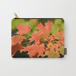 Fall Autumn Maple Leaves Red Orange Autumnal Colors Carry-All Pouch
