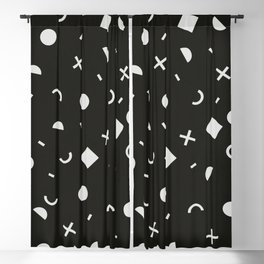 Black & White Memphis Pattern Blackout Curtain