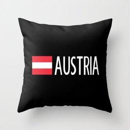 Austria: Austrian Flag & Austria Throw Pillow