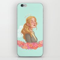 beth hoeckel iPhone & iPod Skins featuring Beth Greene by Chelsea Bee