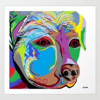 rottweiler Art Prints featuring Rottweiler by EloiseArt