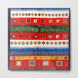 N35 - Bohemain Colored Moroccan Traditional Andalusian Artwork. Metal Print