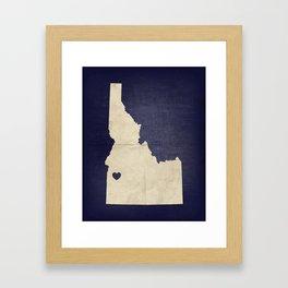 Boise, Idaho Framed Art Print