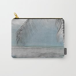 White Coconut Palm Tree Carry-All Pouch