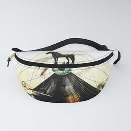 The Green Eye Surrealism Art Photo Collage Fanny Pack