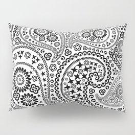 Black and White Paisley Pattern Pillow Sham