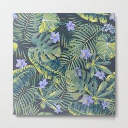 Palm Leaves Pattern 9 Metal Print