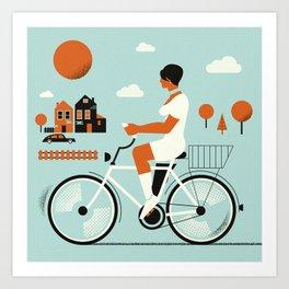 Bike riding ... Art Print