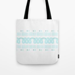 A Hiss on Dots and Lines Tote Bag
